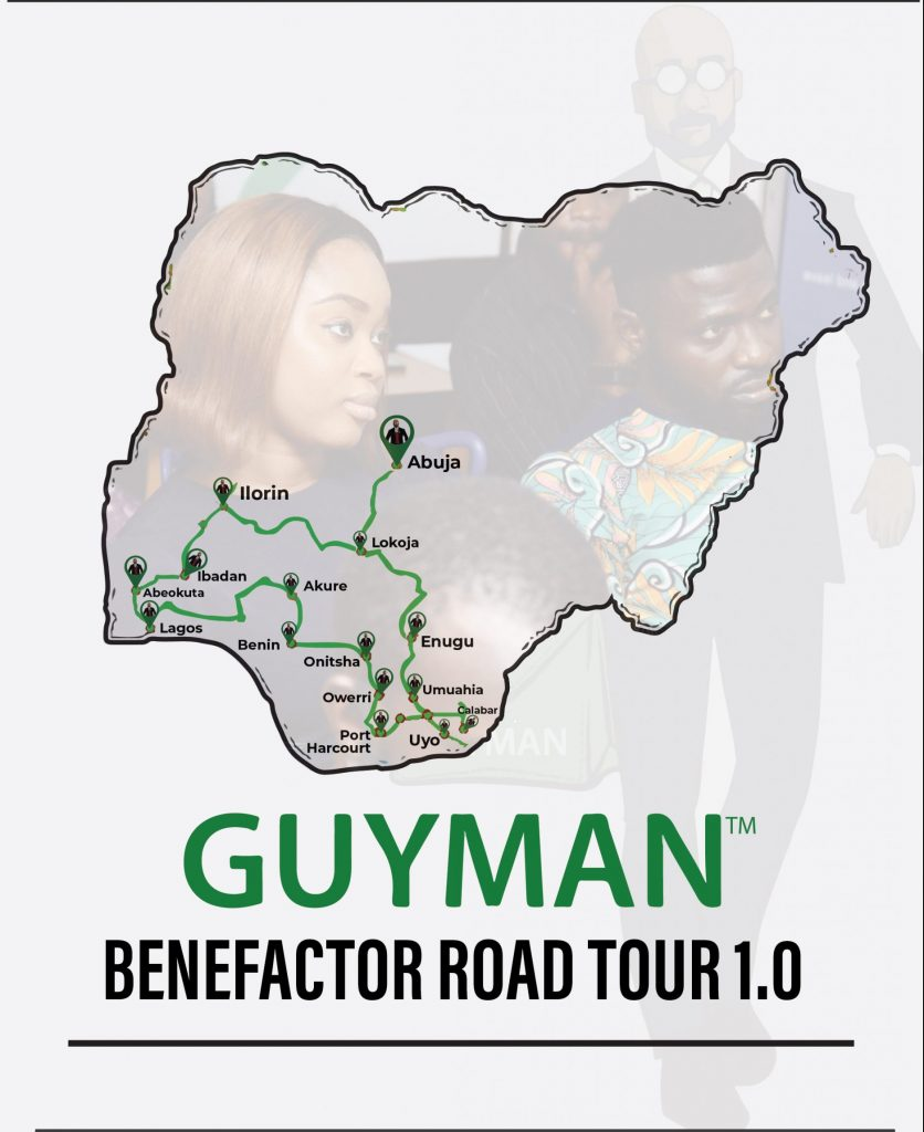 Guyman is touring 15 cities in the south of Nigeria
